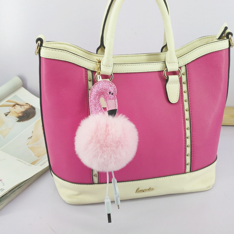 flamingo-font-b-pokemon-b-font-keychains-usb-charging-fluffy-ball-key-chain-universal-data-cable-jewelry-pendant-decorations-car-key-accessory
