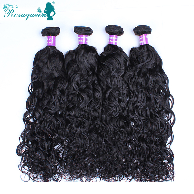 4 Bundles Wet And Wavy Indian Virgin Hair Water Wave Virgin Hair Indian Curly Virgin Hair 100% Unprocessed Human Hair Weave