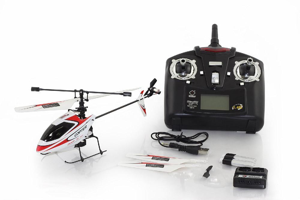 LeadingStar 4CH 2,4 ГГц Мини Радио Одноместный Propeller Вертолет гироскопа V911 RTF красный и белый