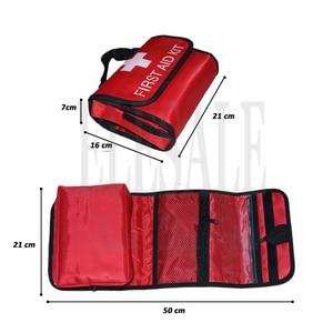 Image 2 - 접이식 방수 휴대용 야외 자동차 응급 처치 키트 여행 또는 캠핑에 응급 처리를위한 접을 수있는 고용량 가방
