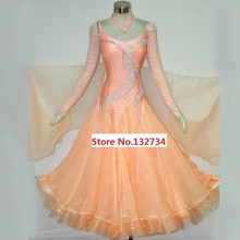 Women Standard Ballroom Dress High Quality Custom Made Ballroom Dancing Costume For Lady Waltz Tango Dance Dresses