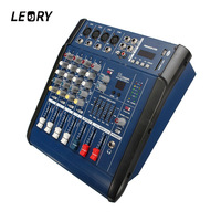 LEORY Digital Mixing Console 4 Channels Professional DJ Audio Karaoke Mixing Console With USB 48V Power 16DSP Sound Mixer For DJ