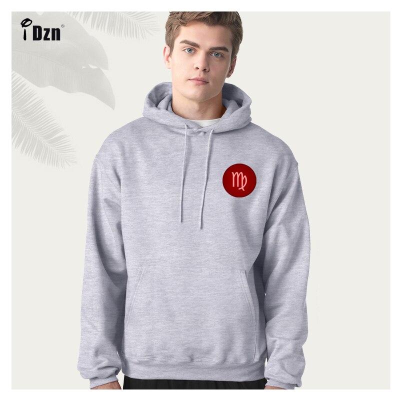 Mens 12 Constellation Leo Print 3D Hooded Sweatshirt Pullover