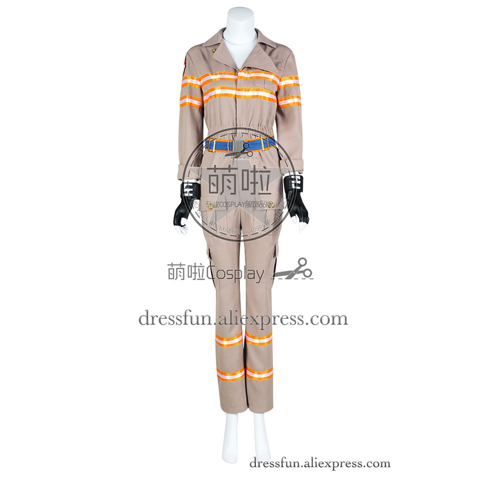 Ghostbusters Cosplay 2016 Film Abby Yates Patty Tolan Costume Jumpsuit Uniform Outfits Suit Halloween Party Fast Shipping