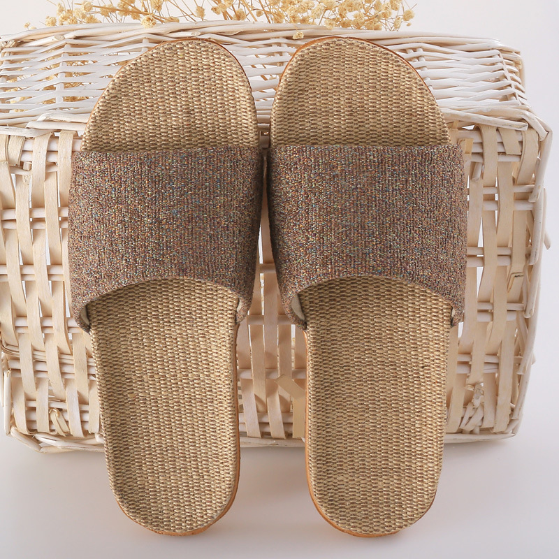 Summer Home Linen Non-slip Breathable Slippers ManWomen Belt Indoor\Floor Girls Beach Open-Toed Slippers Shoes coolsa women s summer flat cross belt linen slippers breathable indoor slippers women s multi colors non slip beach flip flops