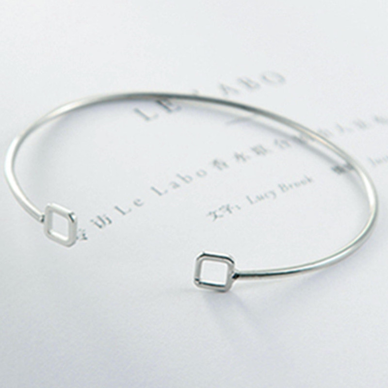 Minimalist air hollow triangular geometric shape open bracelet bracelet  women simple temperament personality Japan and South Kor-in Bangles from  Jewelry ... 1149983a3be8