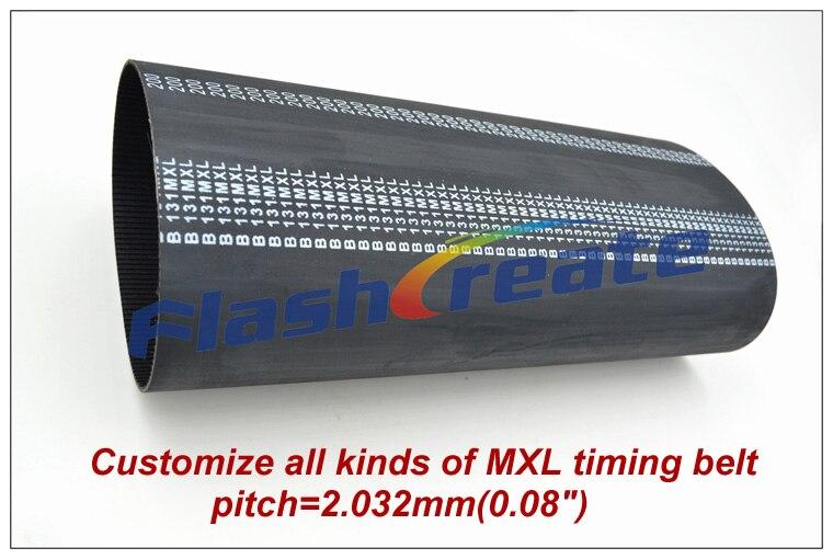 Spécialisé dans la production de toutes sortes de pas de courroie de distribution MXL = 2.032mm (0.08 ) ajustement MXL courroie de distribution MXL