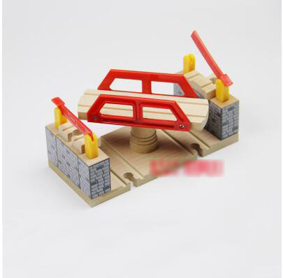 P052 Wooden bridge luxury multifunction rotary double-track rail cars and accessories suitable for wooden electric Thomas