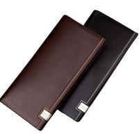 Hot Promotions Casual Long Men Wallet Bag Brand Senior Pu Leather Business Card Holder Men S