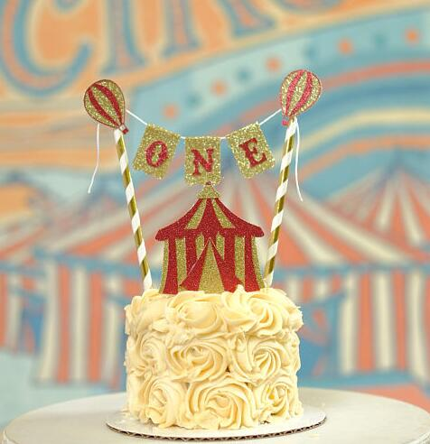 Groovy Personalized Vintage Circus Birthday Cake Buntings Cupcake Toppers Personalised Birthday Cards Veneteletsinfo