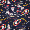 140cm Width Dark Blue Retro Hawaii Mickey Mouse Cotton Fabric For Baby Boy Cloth Sewing Bedding