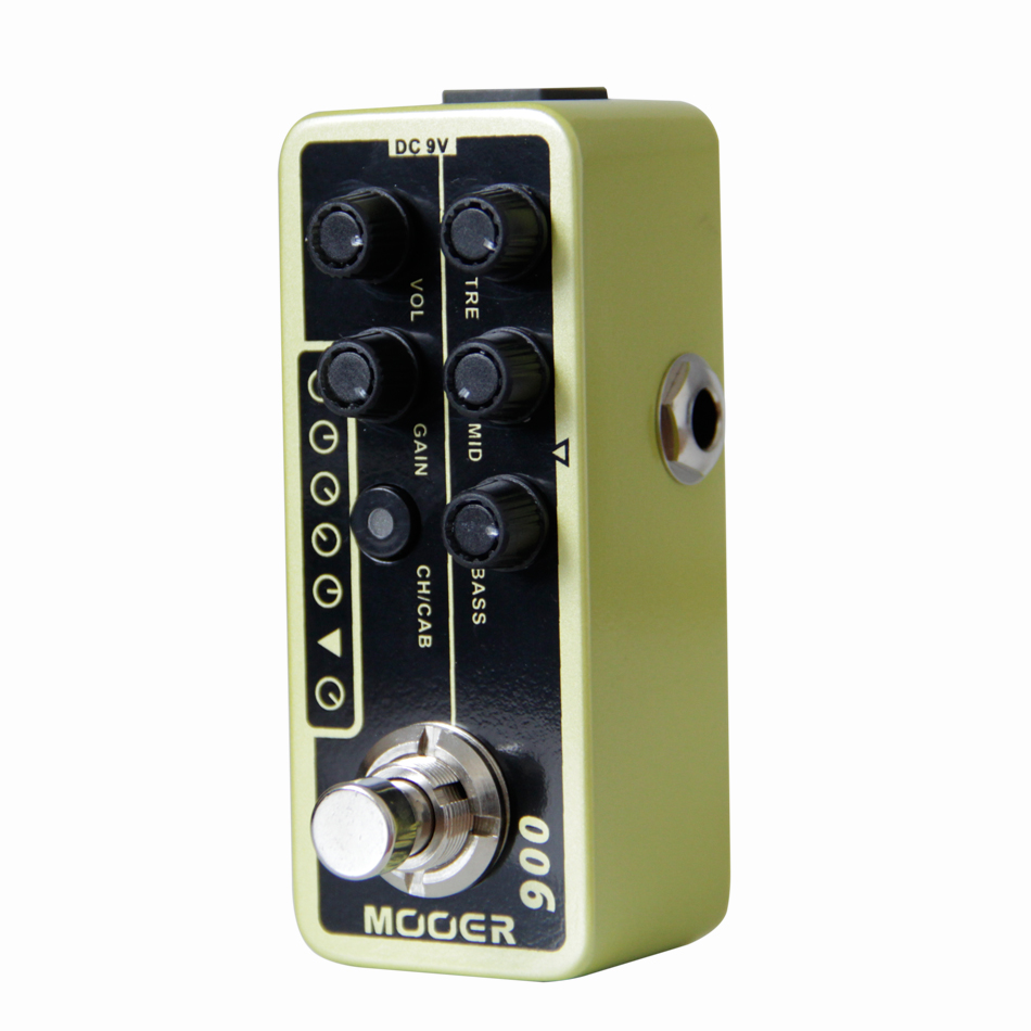 Mooer 006 Classic Deluxe Micro Preamp Guitar Effects Pedal High-quality Dual Channel Guitar Pedal Guitar Accessories mooer micro looper mini guitar effects pedal high quality sound restoration guitar pedal guitar accessories