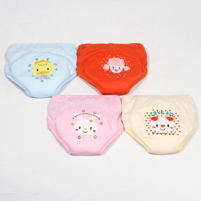 Hot Selling 4pcs/lot 4 layers Baby Nappies for Boy Girl Underwears Briefs Infant Diapers Waterproof Training Pants DS19