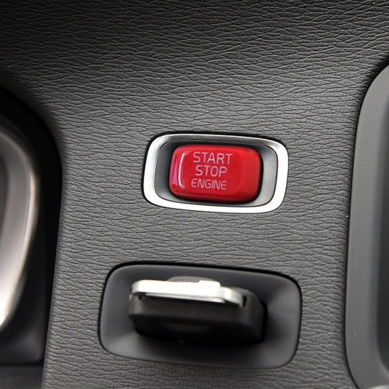 Repair Car Engine Start Button Replace Cover Stop Swtich Key Decor Car Styling For Volvo V40 V60 S60 XC60 S80 V50 V70 XC70 replace start stop button volvo