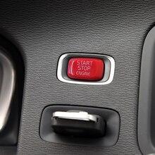 Ремонт автомобилей кнопка запуска двигателя Замените крышку остановить Swtich ключ Декор стайлинга автомобилей для Volvo V40 V60 S60 XC60 S80 V50 V70 XC70