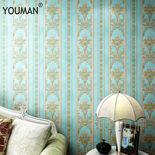 купить YOUMAN Modern Damask 3D Wallpapers Rolls Striped Florwers Bedroom Wall Coverings for Living Room Luxury Wall Papers Home Decor по цене 1696.76 рублей
