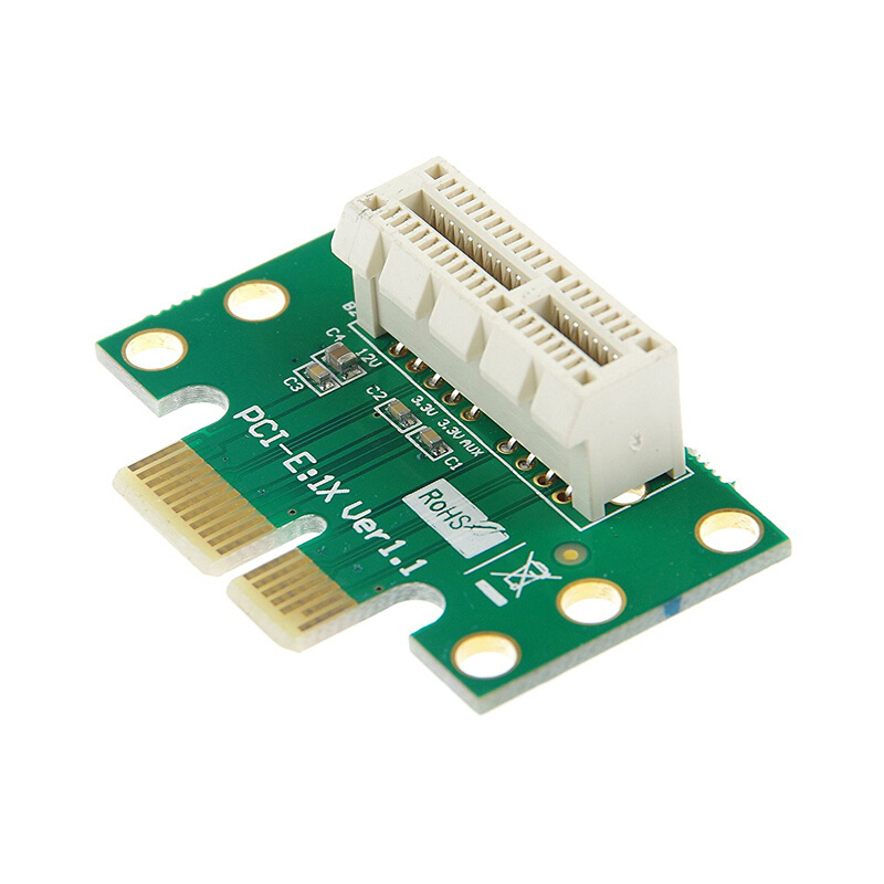 BTBcoin PCI-E PCI Express X1 Adapter Riser Card PCI E PCIE X1 To X1 Slot Convert Card 90 Degree For 1U Server Chassis Wholesale