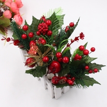 1 bunch of Christmas tree decoration accessories artificial pine simulation plant DIY cut and paste gift box decoration crafts