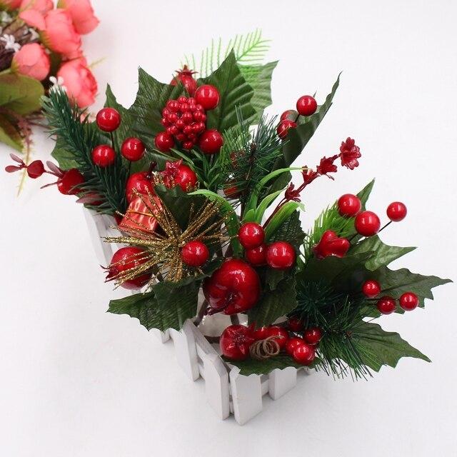 1 mazzo di Natale accessori decorativi albero di pino artificiale pianta di simu