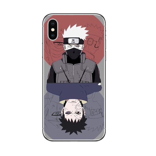 Cool Naruto Sketch Silicone Phone Case for iPhone