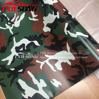 Good Quality Tree Camouflage Vinyl Wrap Film Auto Sticker Vinyls Film Camouflage Car Wrap Size 10/20/30/40/50/60x152CM/Lot image