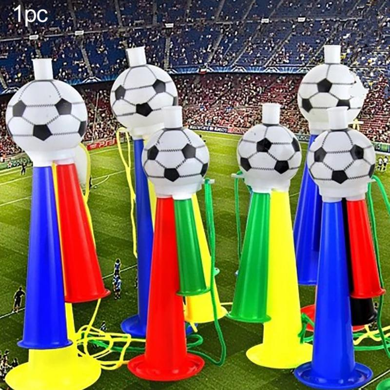 Football Fans Plastic Horn Word Cup European Cup Three Sound Soccer Trumpet Toy Horn Party Carnival Concerts Random Color