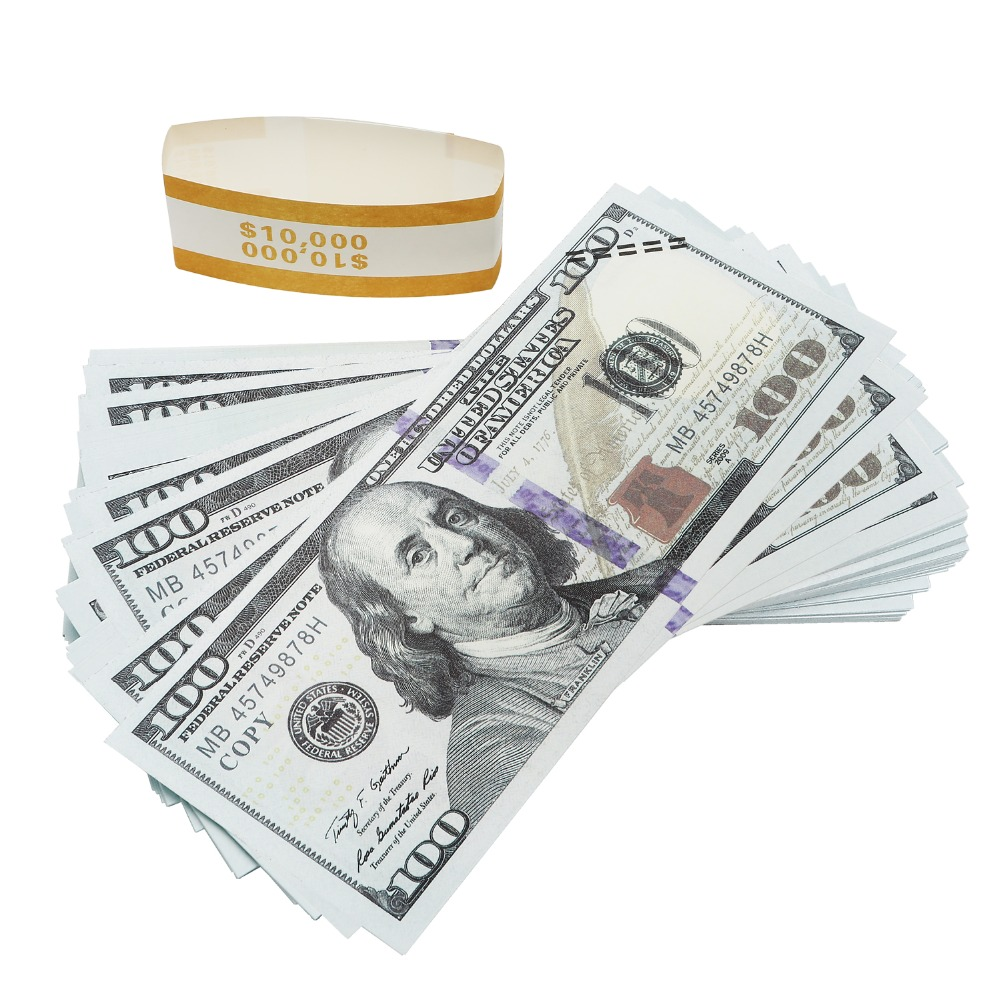 US $10 77 23% OFF|Props Money magic Props Advertising & Novelty Real  Looking New Style Copy Double Sided Printing for Movie-in Gold Banknotes  from