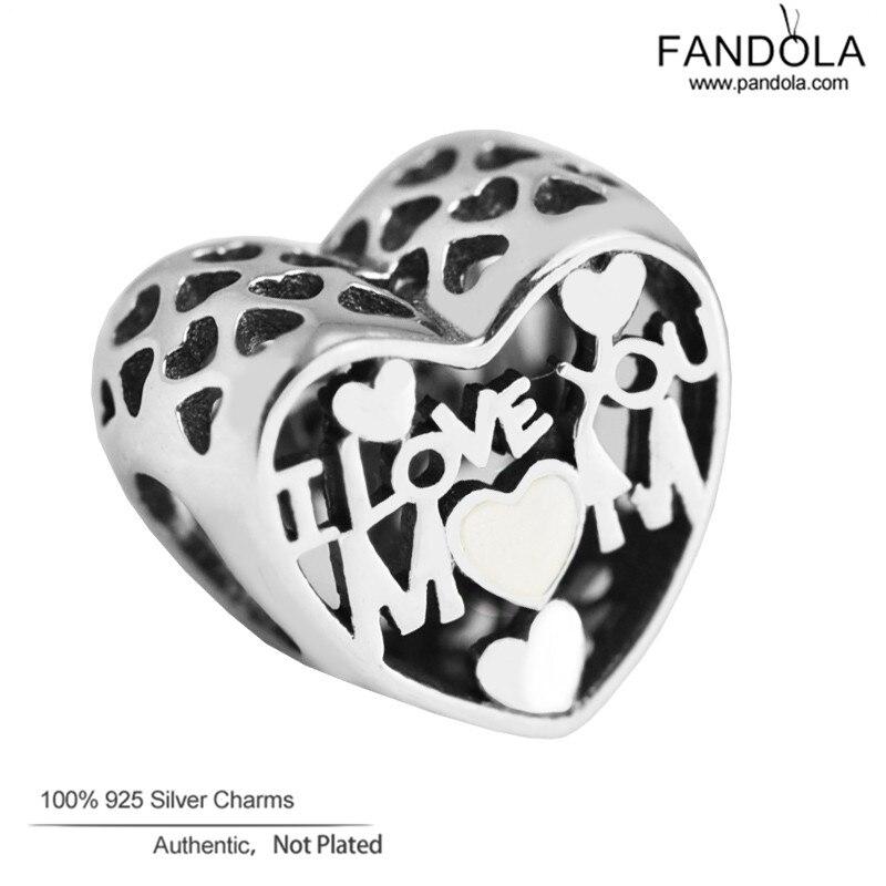 Szeretlek Anya Szív Varázsa illeszkedik a Pandora karkötőhöz