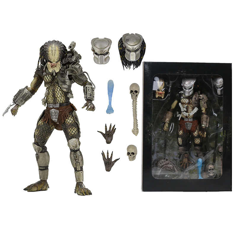 NECA PREDATOR Bilancia Finale P1 Jungle Hunter Giungla Demone di Cemento Clan Leader PVC Action Figure Da Collezione Model Toy 20 centimetri