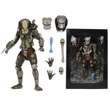NECA figuras de acción de PVC, juguete de modelos coleccionables de 20cm, modelo PREDATOR Scale Ultimate P1, cazador de jungla, demonio, hormigón, líder del Clan