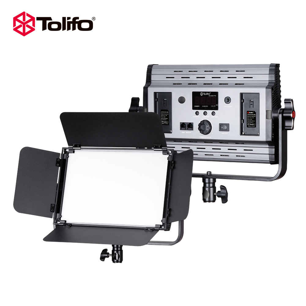 Tolifo GK-S60B 60 W 600 pz Lampadine A LED Photo LED Luce Video Bi-Colore Dimmerabile DMX 512 + 2.4G Telecomando Per La Fotografia In Studio