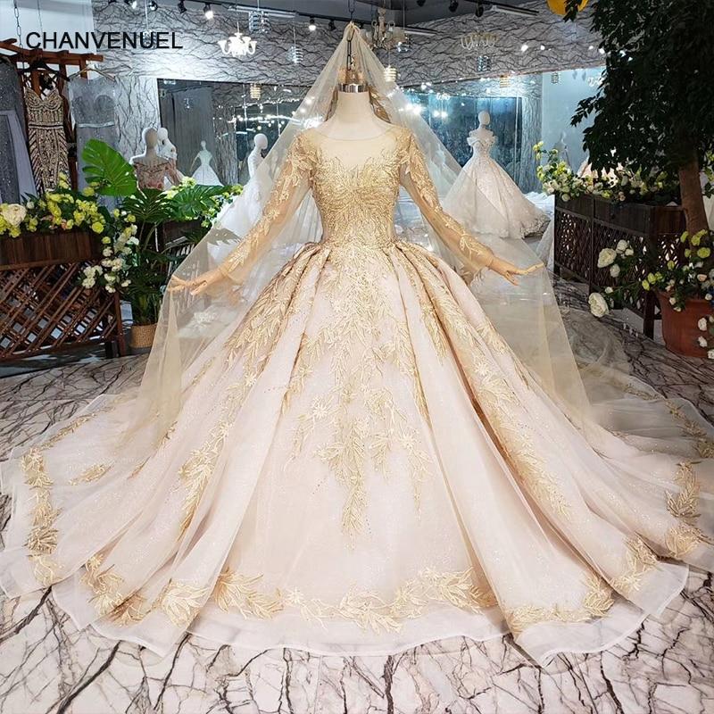 Wedding Gown Veil: Luxury Wedding Dress With Wedding Veil Backless Handmade