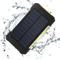 Impermeable Cargador Solar Power Bank 10000 mah Doble USB Portable Brújula Recorrido Al Aire Libre Powerbank Batería Externa para todos los teléfonos