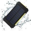 Waterproof Solar Power Bank 10000 мАч Dual USB Портативное Зарядное Устройство Компас Открытый Путешествие Powerbank Внешняя Батарея для всех телефонов