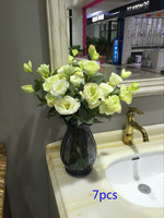 7 adet ipek Balon çiçekler ve vazo seti, Masa Centerpieces, çiçek düzenleme, beyaz sarı pembe yeşil mor