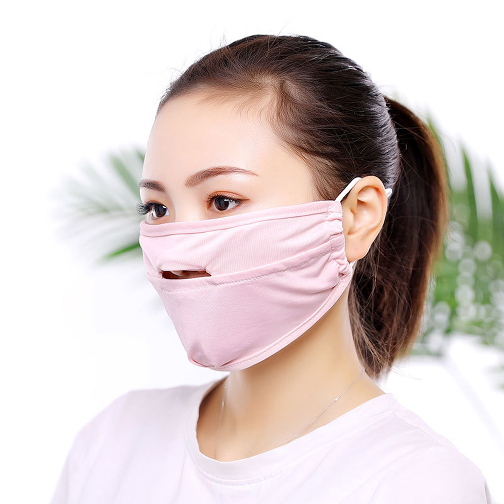 2019 New Mouth Mask Men Women Anti Sun Reusable Mouth Mask Washable Sunscreen Mask Breathable Face Shield Summer