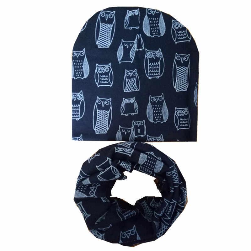 ใหม่ฤดูใบไม้ผลิฤดูใบไม้ร่วงฤดูหนาวเด็กหมวกผ้าพันคอชุดเด็กหมวกเด็ก Beanies หมวกเด็กหมวกผ้าพันคอขายส่ง