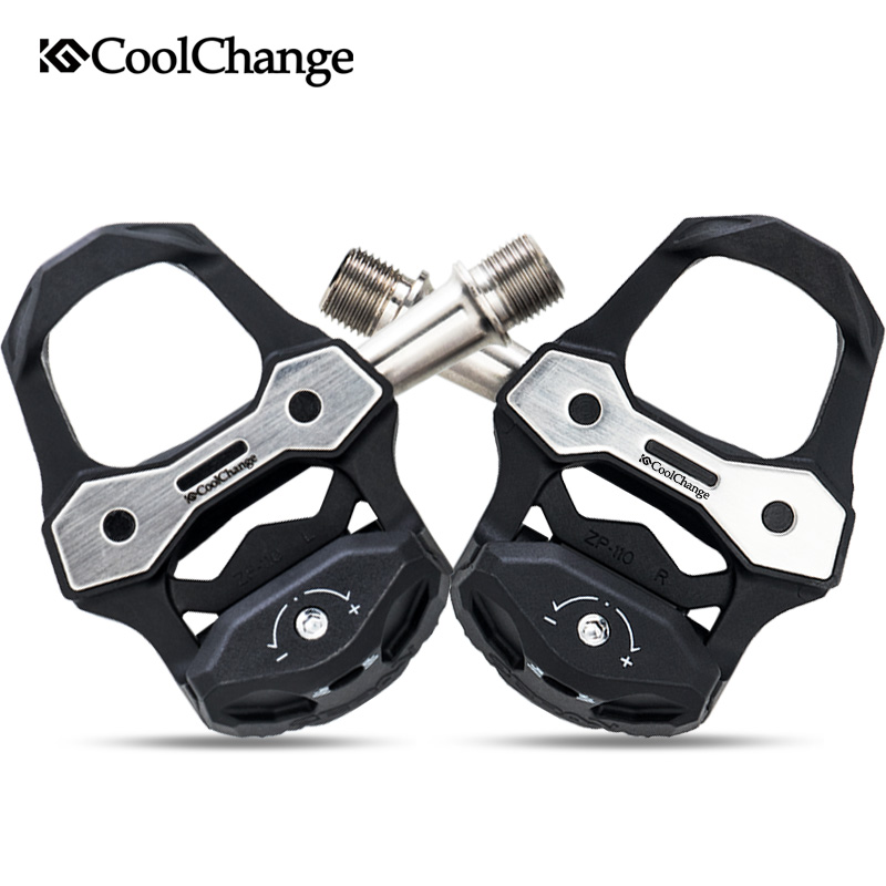 CoolChang pédale de vélo ultra-léger en Fiber de carbone roulements scellés pédale de cyclisme en alliage de titane auto-verrouillage accessoires de pédale de vélo