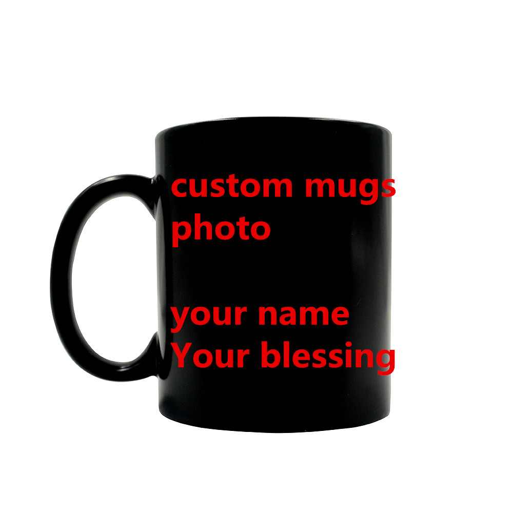 You Name <font><b>blessing</b></font> Christmas gift Custom Made Mugs Color Changing <font><b>Cups</b></font> Magic heat sensitive Coffee Mug Tea pokemon LOGO <font><b>Cup</b></font>