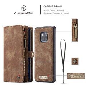 Image 5 - Pour Coque Huawei P30 Lite étui de luxe à fermeture éclair portefeuille Folio couverture magnétique étui en cuir véritable pour Huawei P20 Lite P30 Pro P20