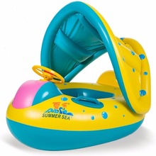 Высококачественные красочные детские кольца для плавания поплавок с солнцезащитным козырьком/Настраиваемая надувная лодка для плавания