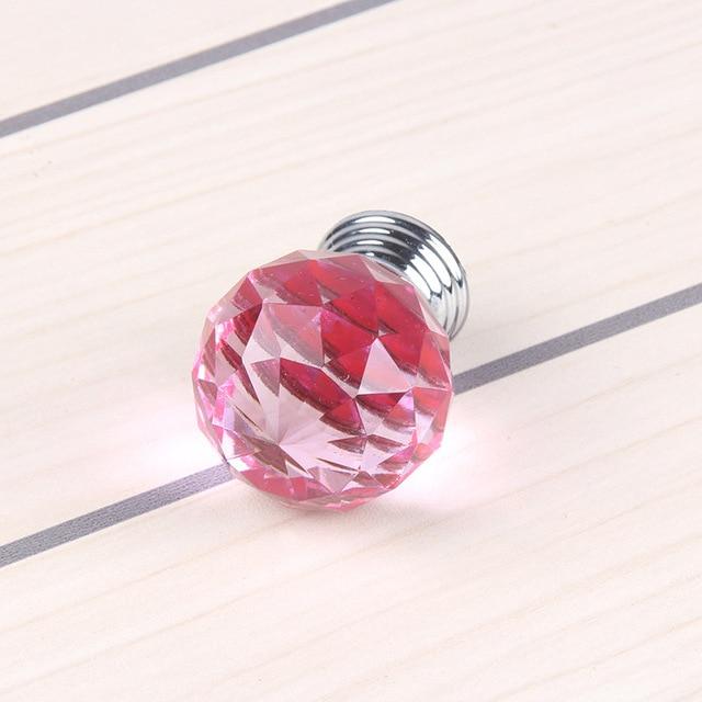 Lade Voor Kast.10 Stks 30mm Roze Crystal Kabinet Knop Kast Lade Handvat Voor Kast