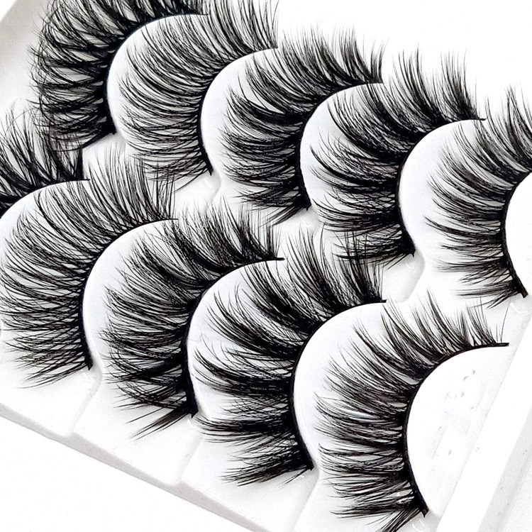 Image 3 - HBZGTLAD Mix 5pairs natural false eyelashes fake lashes long makeup 3d mink lashes eyelash extension mink eyelashes for beauty-in False Eyelashes from Beauty & Health