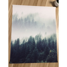 Nordic Style Poster and Print with Forest Landscape for Living Room