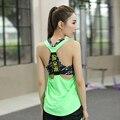 Verão Tanque Casual Tops Yuga do Exercício da Aptidão Sem Mangas das Mulheres Camisa Solta de Secagem Rápida Roupas Colete Sem Encosto