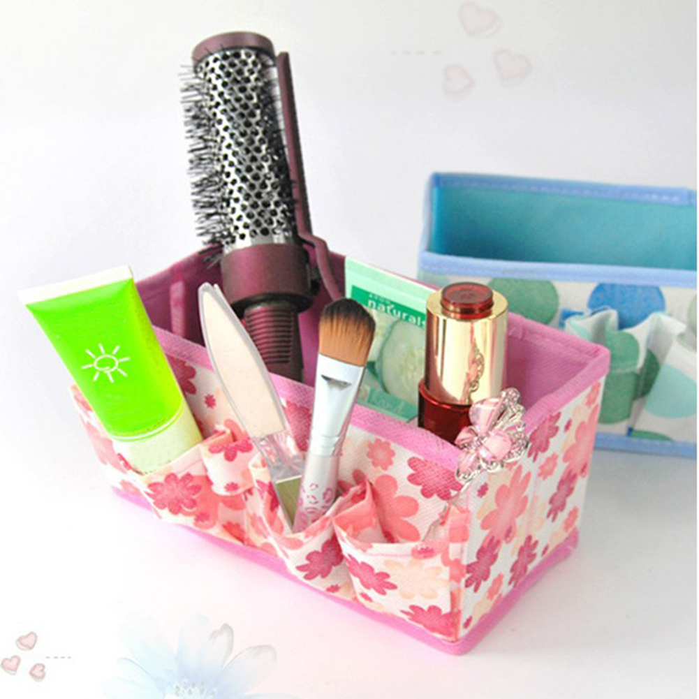 Make Up Organizer Cosmetic Organizer Foldable Storage Box Non-Woven Fabric Multifunctional Large Capacity Container