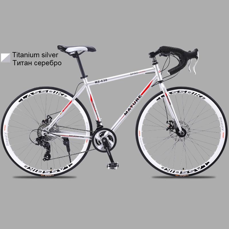 HTB1NJhUbhD1gK0jSZFsq6zldVXaa 700c road bike 21 27 and 30 variable speed double disc brake ultra light Aluminum alloy road bike adult bicycle