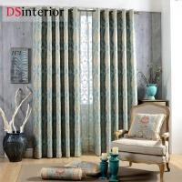 DSinterior Classic Design European Style Jacquard Blackout Curtain Custom Made