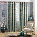 DSinterior design clássico estilo europeu jacquard cortina blecaute e tule custom made