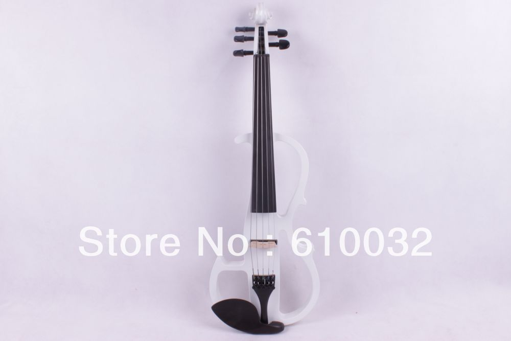 New  white   5 string 16'' Electric Viola Silent Solid Wood Body Powerful Sound Case Bow tongling handmade antique viola maple wood nature flamed matt viola w case bow rosin strings stringed instruments 15 16